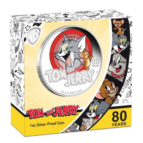 Box of Silver Proof coin Tom and Jerry