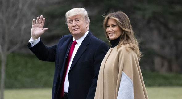 Donald Trump and first lady Melania will visit India in late February