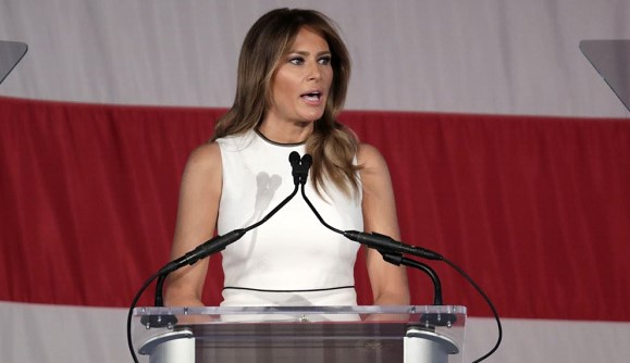 Melania Trump honored with Christian College award