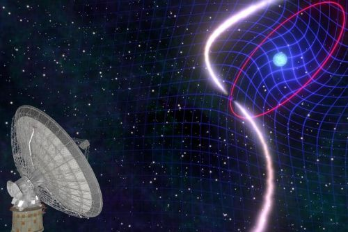 """A system was discovered whose stars """"spin the fabric"""" from the """"fibers"""" of the space-time continuum"""