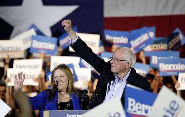 Sanders won at meetings of US Democratic Party activists in Nevada