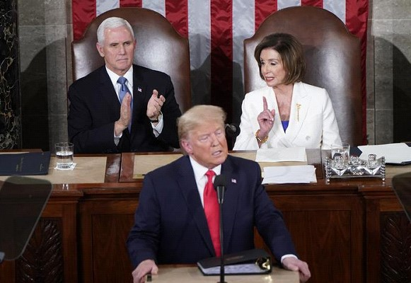Trump taunted Pelosi for tearing up his speech