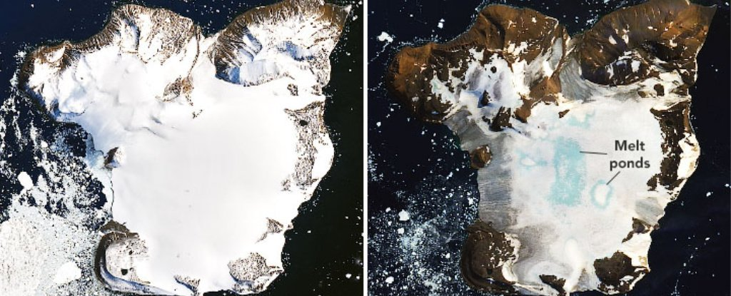 NASA recorded record fast ice melting in Antarctica