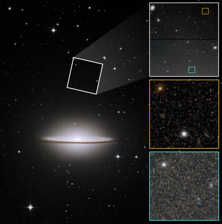 The smooth edge of the disk of the Sombrero galaxy spoke about its turbulent past