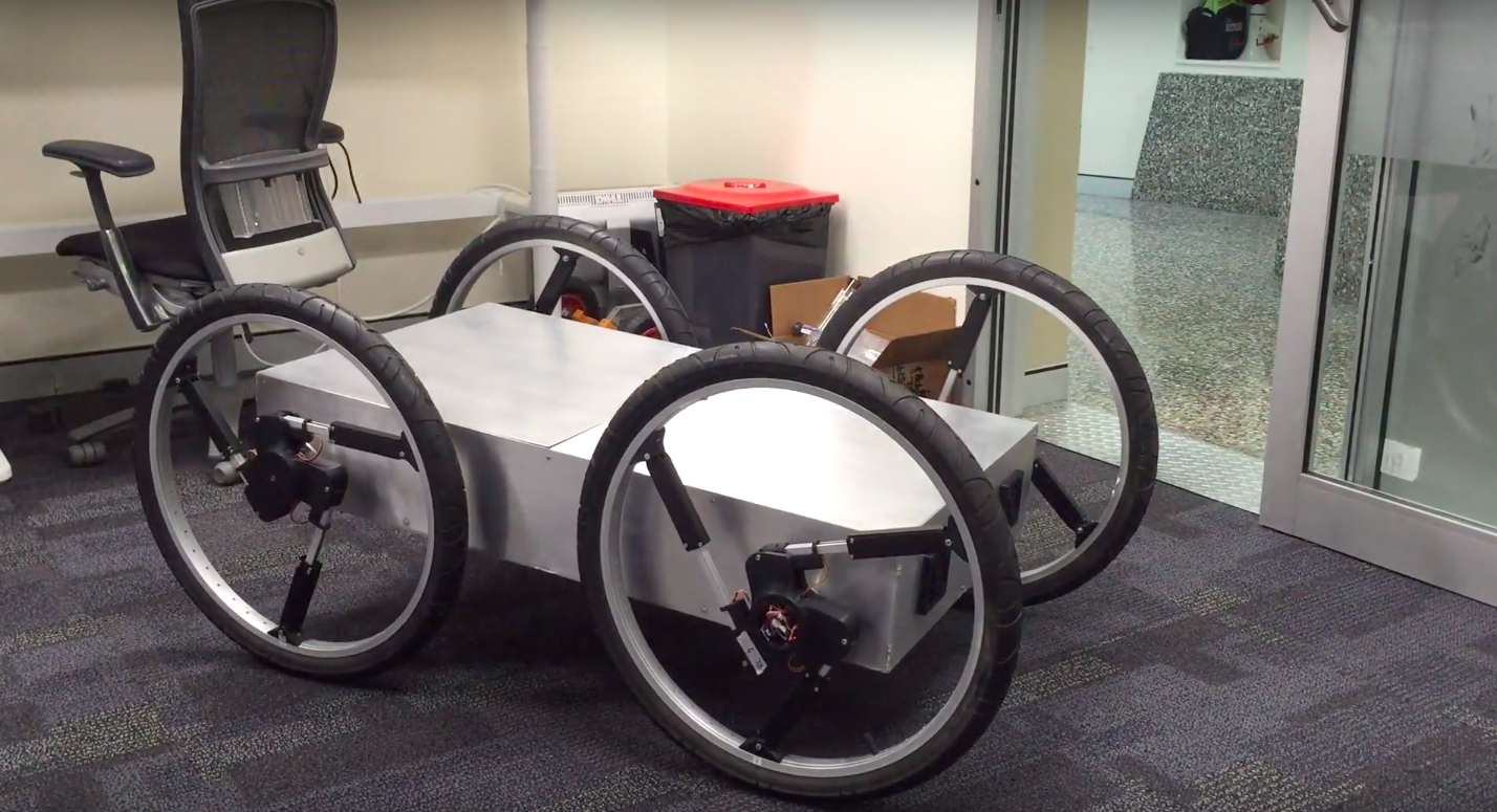 In Australia, tested a robot with a new type of wheels