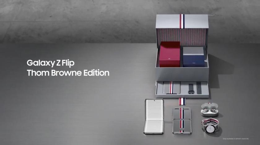 """Samsung will release a special version of the """"clamshell"""" Galaxy Z Flip Thom Browne Edition for $2500"""
