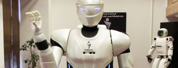 Iranian humanoid robot learns to drill walls and take selfies