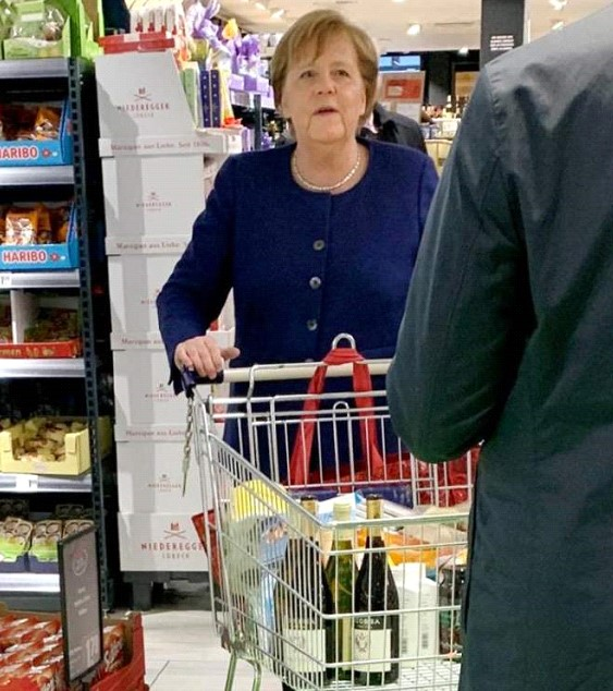 Merkel in the midst of the coronavirus