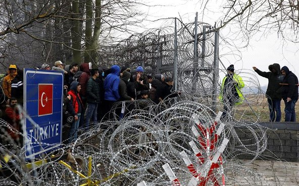 The President of Turkey has urged Greece to open the border for migrants