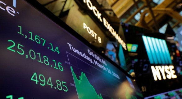 US financial markets again show a decline in the background of the coronavirus