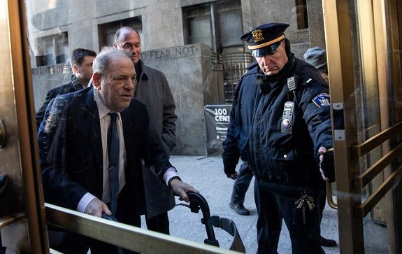 Weinstein was admitted to the hospital a few hours after the verdict