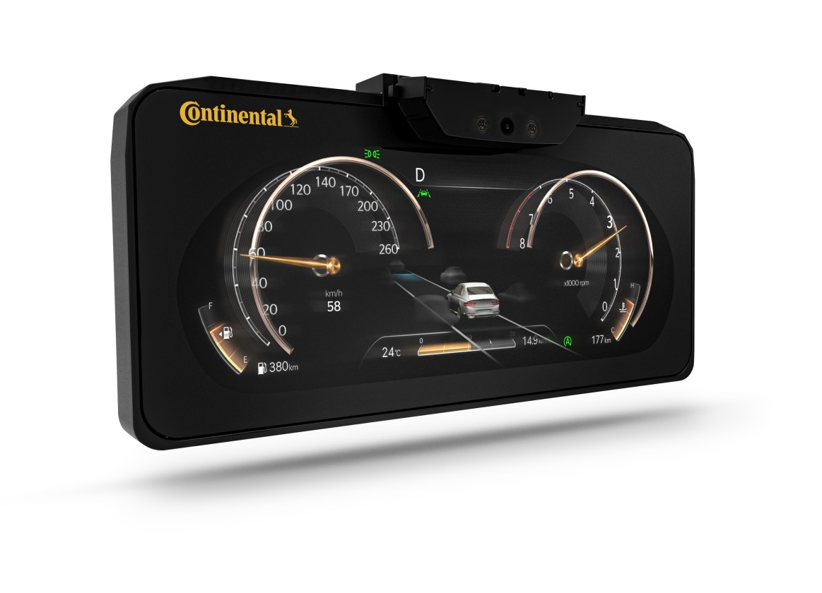 Continental introduced a dashboard with a 3D display