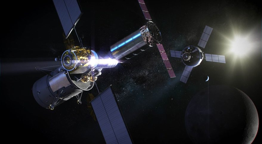 Gateway near moon station will receive a weather station and a radiation detector