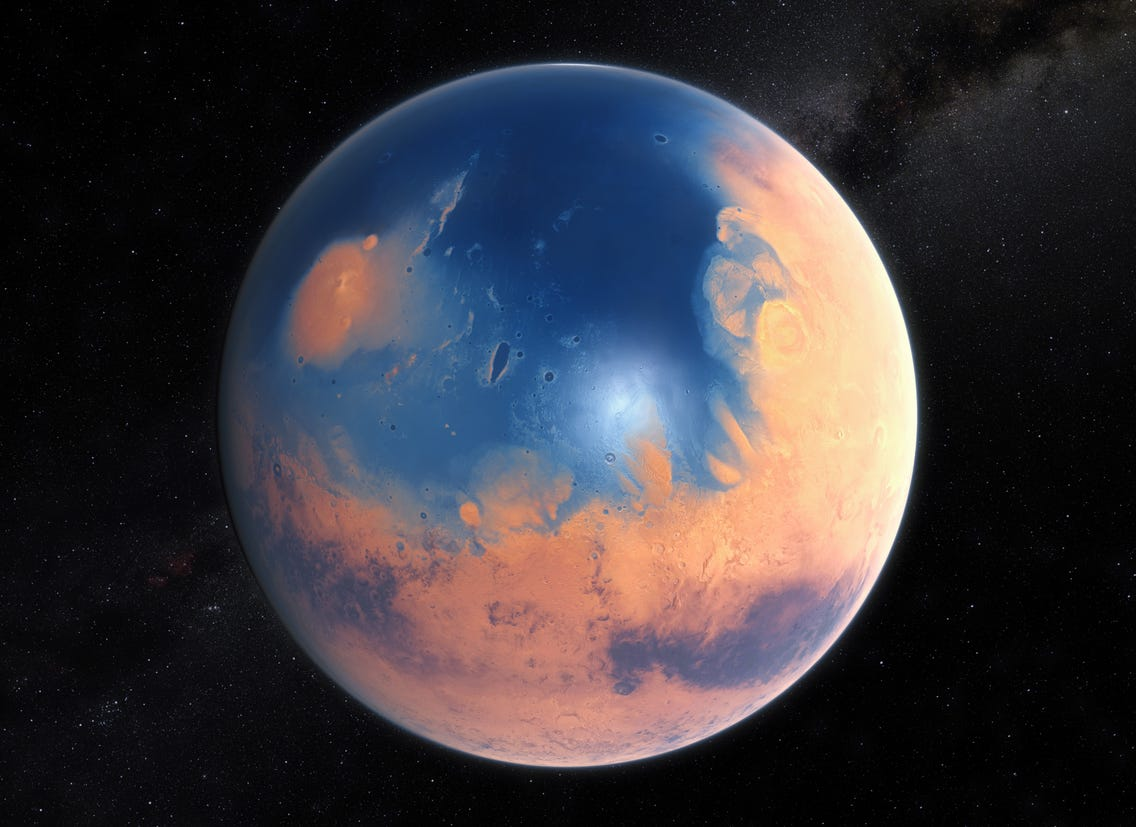 Mars could get its water reserves thanks to at least two protoplanetary bodies