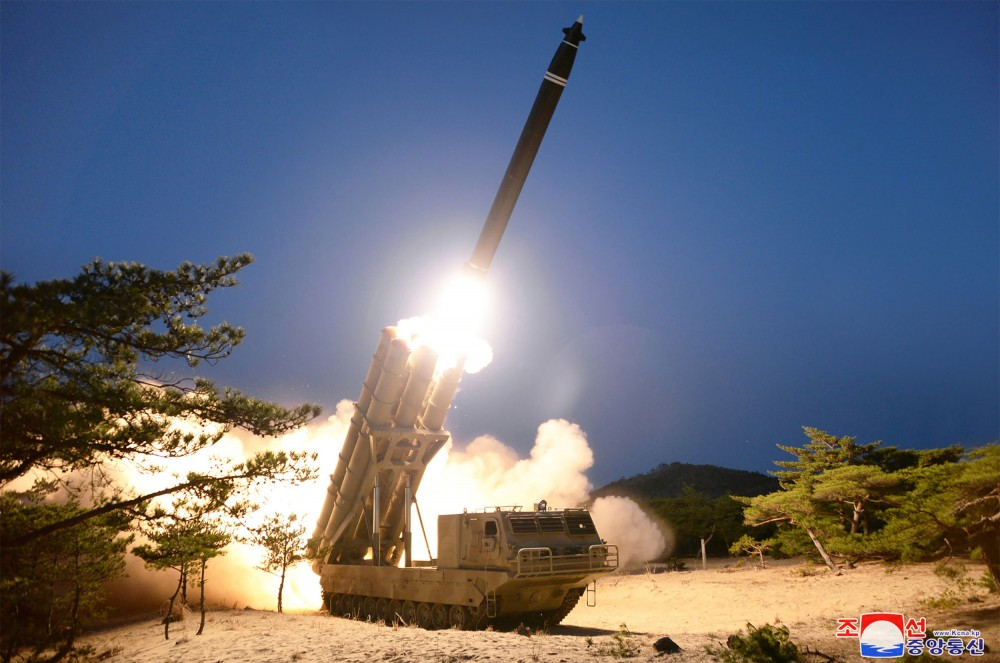 North Korea revealed a new multiple launch rocket system
