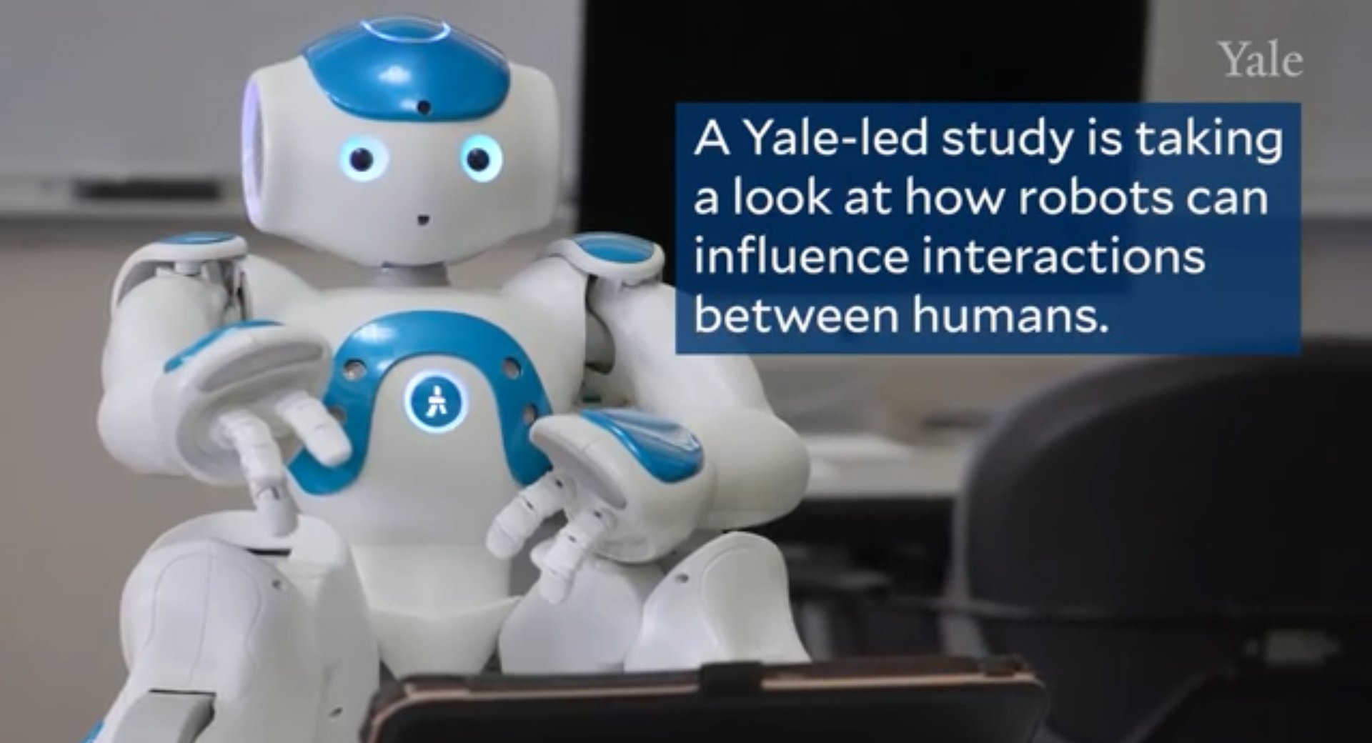 An expressive robot has helped people interact with each other