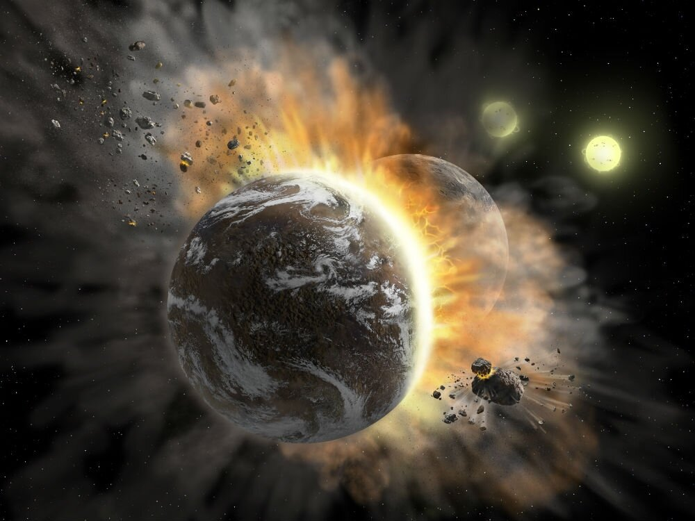 The solar system acquired its current form almost immediately after the formation