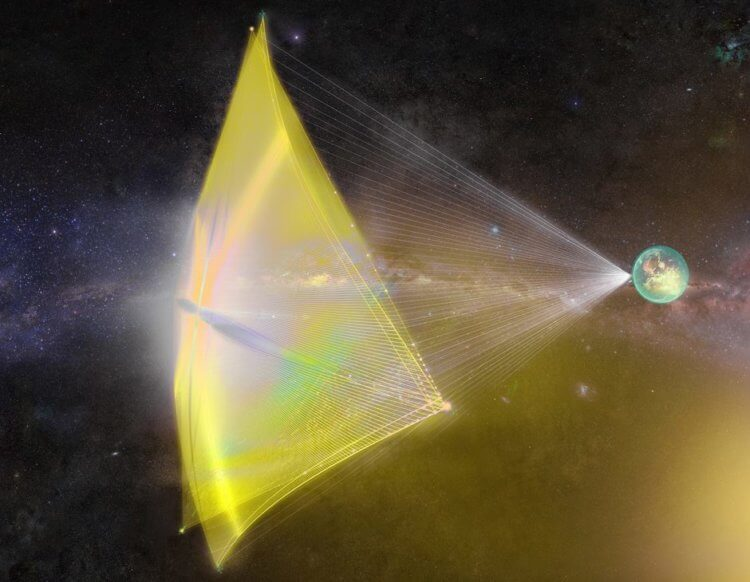The Starshot project, invented by Yuri Milner and Stephen Hawking, will be able to reach the closest star to us in 20 years