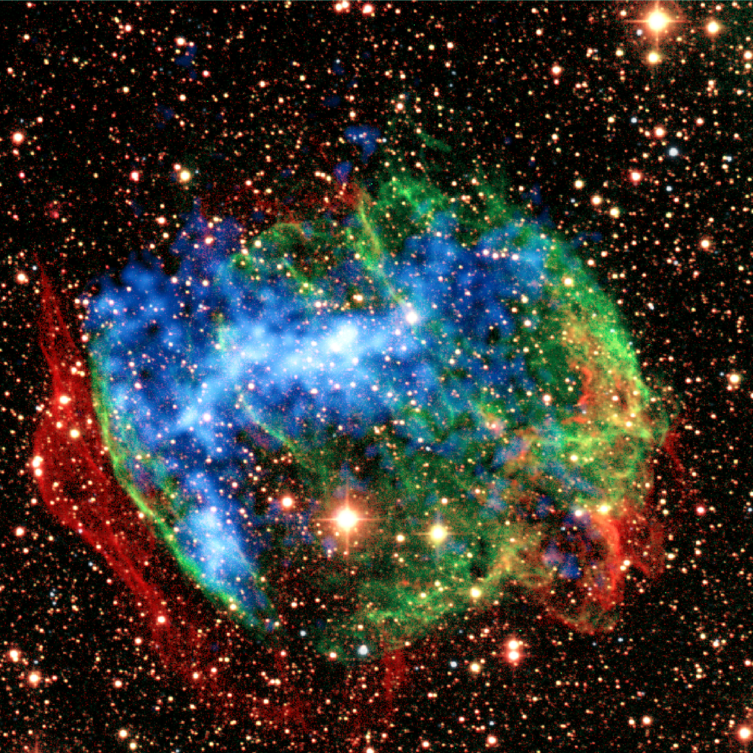 Astronomers first determined the chemical composition of supernova remnants