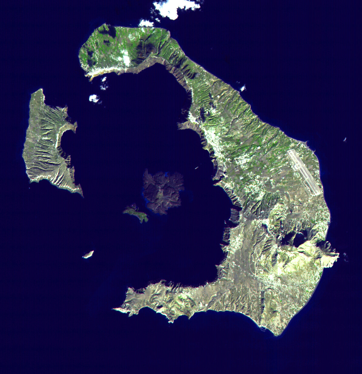 Tree rings helped determine the date of the eruption of the volcano Thira in Greece
