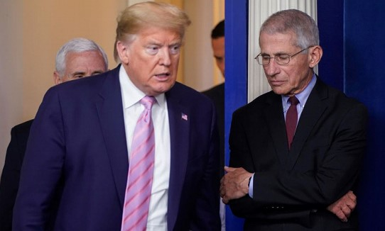 Trump retweeted a post calling for Fauci's resignation