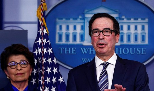 """Mnuchin: helping airlines will be the government's """"next big step"""""""