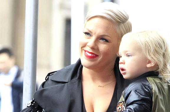 Pink and her three-year-old son were infected with the coronavirus