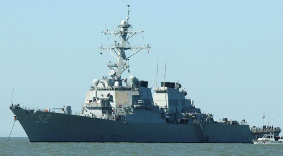 The American destroyer passed in the area of the Paracel Islands
