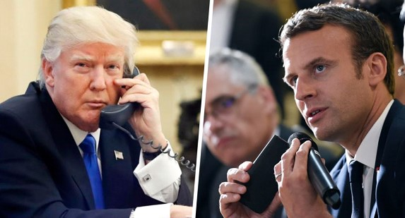 Trump and Macron discuss efforts to fight the pandemic