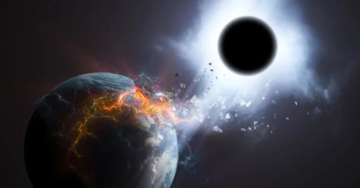 What happens if a black hole appears near the Earth?