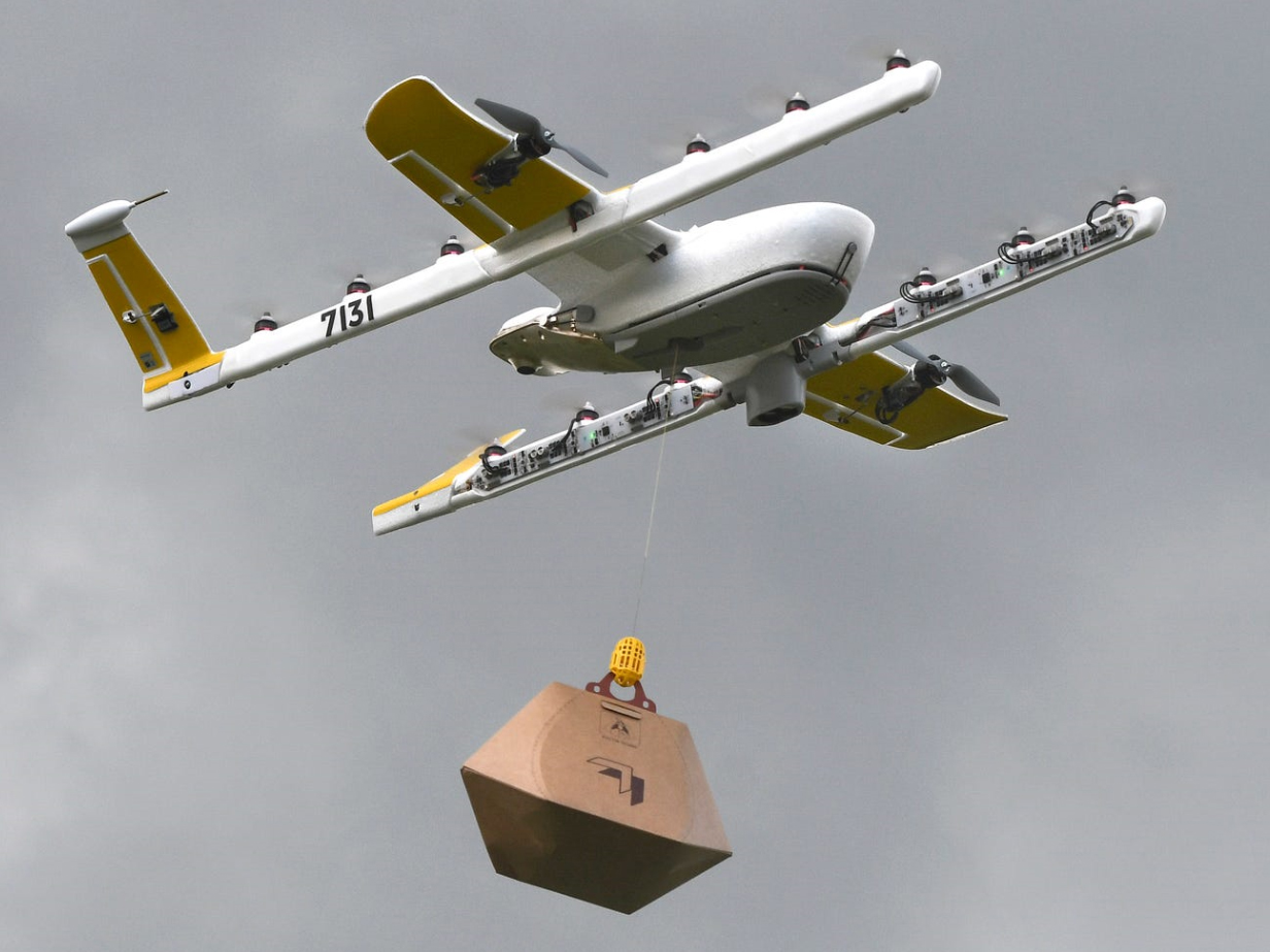 Google began to deliver toilet paper and products drones