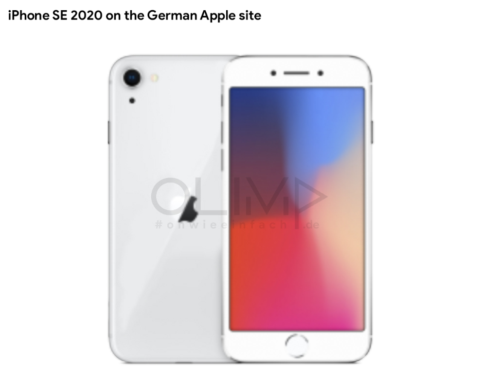 iPhone SE 2020 the official image