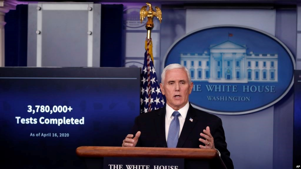 Pence is discussing with the governors the extension of the test for coronavirus
