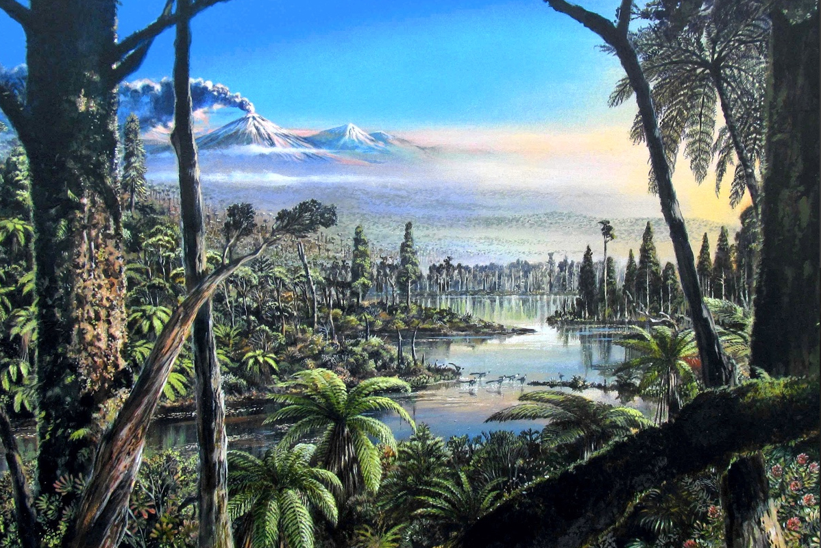 At the bottom of the Antarctic sea found the remains of the polar jungle of the Cretaceous period